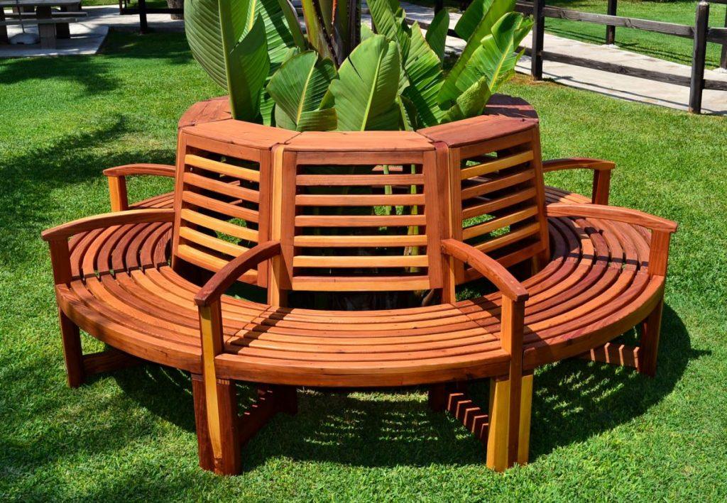 Bancos de madera y resina baratos