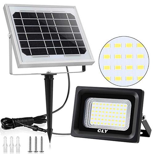 Foco led de exterior con panel solar independiente