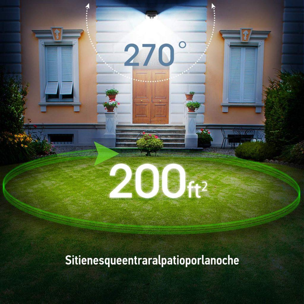 Lámparas y focos solares de exterior para jardín